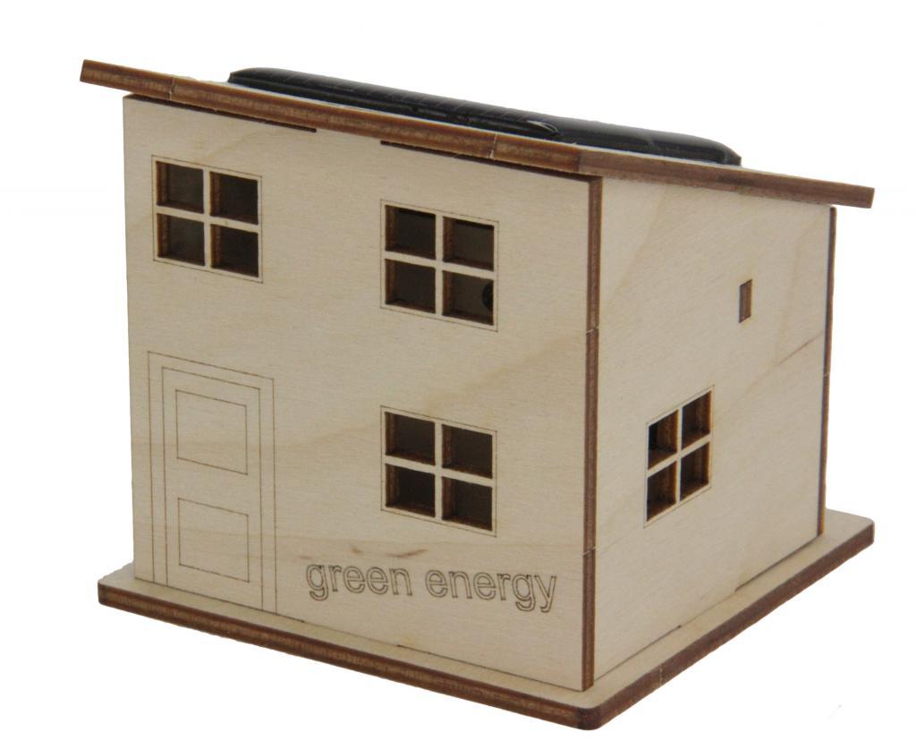 maquette maison solaire en bois sevellia. Black Bedroom Furniture Sets. Home Design Ideas