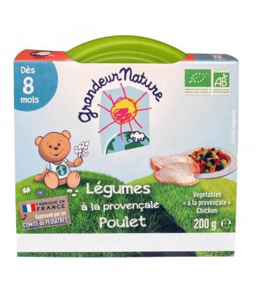 Légumes à la provençale et poulet pour bébé bio