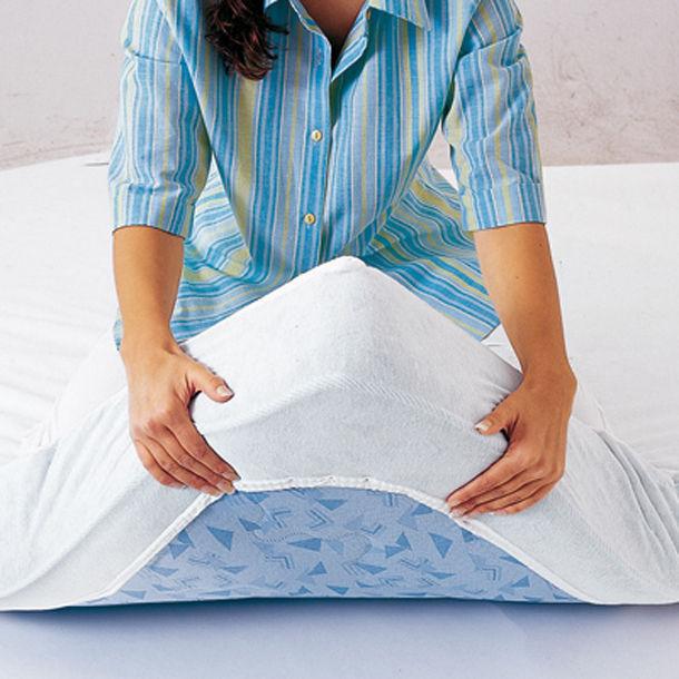 prot ge matelas drap housse 140x190 cm coton bio. Black Bedroom Furniture Sets. Home Design Ideas