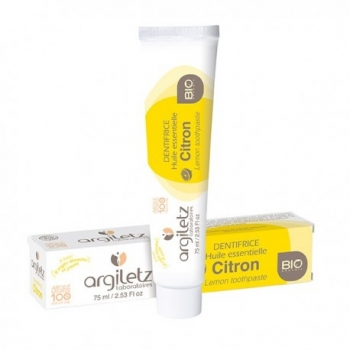 ARGILETZ - Dentifrice Bio Citron – 75 ml