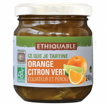 ETHIQUABLE - Confiture Orange Citron Vert