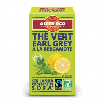 ALTER ECO - Thé Vert Earl Grey (Ceylan) Bio Alter Eco