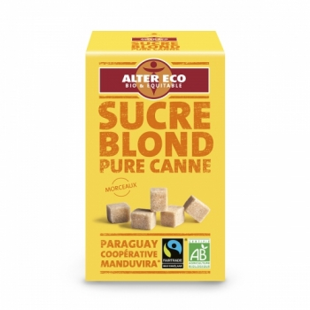 ALTER ECO - Sucre Blond en morceaux Pure Canne