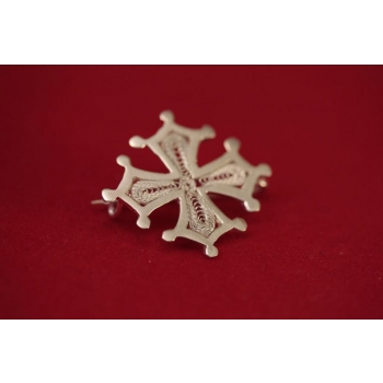Broche occitane en filigrane d'argent