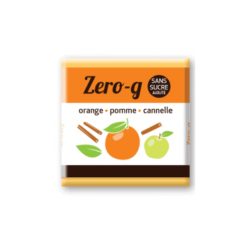Onaturo Zero-g Chocolat NOIR 93% Pure origine Pérou (Pomme, cannelle, orange)