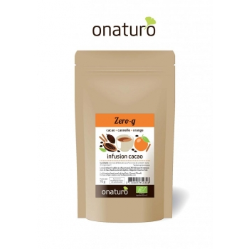 Infusion Zero-G : Orange, cannelle, écorces de fèves cacao BIO 70g ONATURO