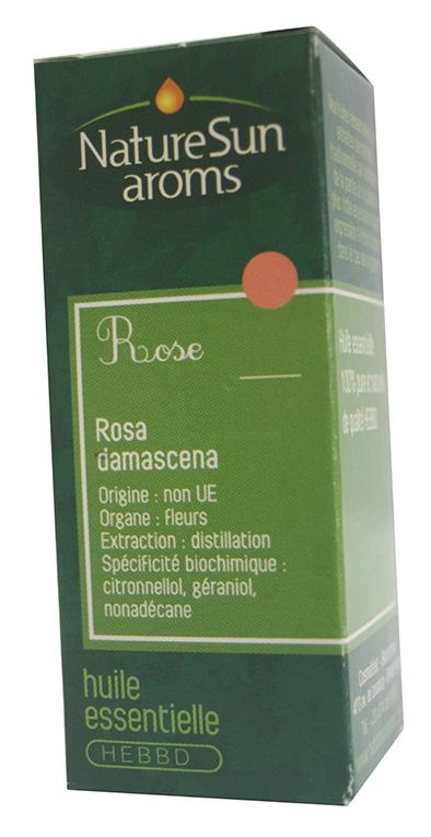 Rose de Damas - huile essentielle bio - Rosa damascena - 1ml