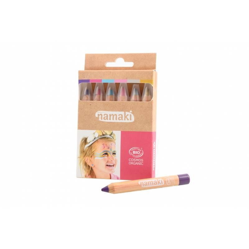 Kit crayons de maquillage Bio pour enfants  Mondes Enchantés - Namaki