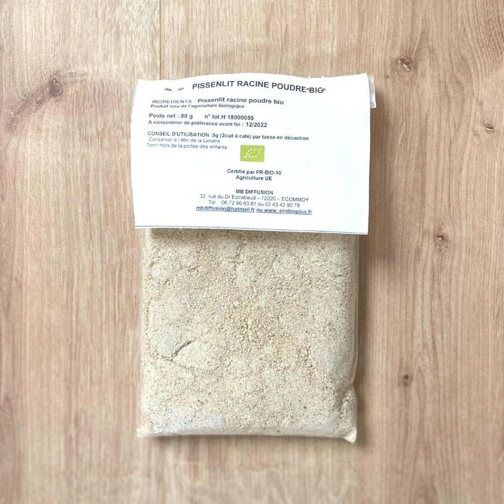 Pissenlit bio : racines en poudre