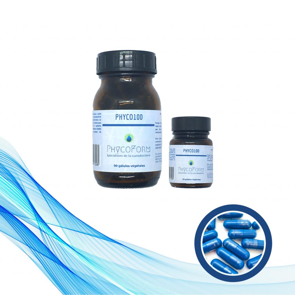 PHYCO100 - Phycocyanine 100 mg - 30 Gélules végétales