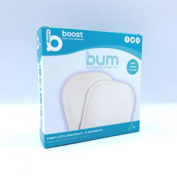 Insert bumdiaper B boost - 5 épaisseurs CHANVRE / COTON / BAMBOU / MICROFIBRE