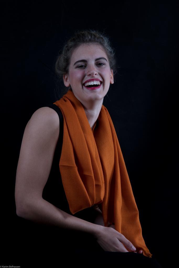 Echarpe Etole Cachemire Golden Brown / Collection Infinie Tendresse 2 FILS