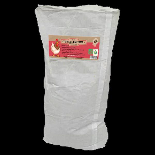 Terre de diatomee alimentaire BLANCHE sac 10kg