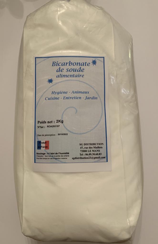 Bicarbonate de soude alimentaire 2 kg