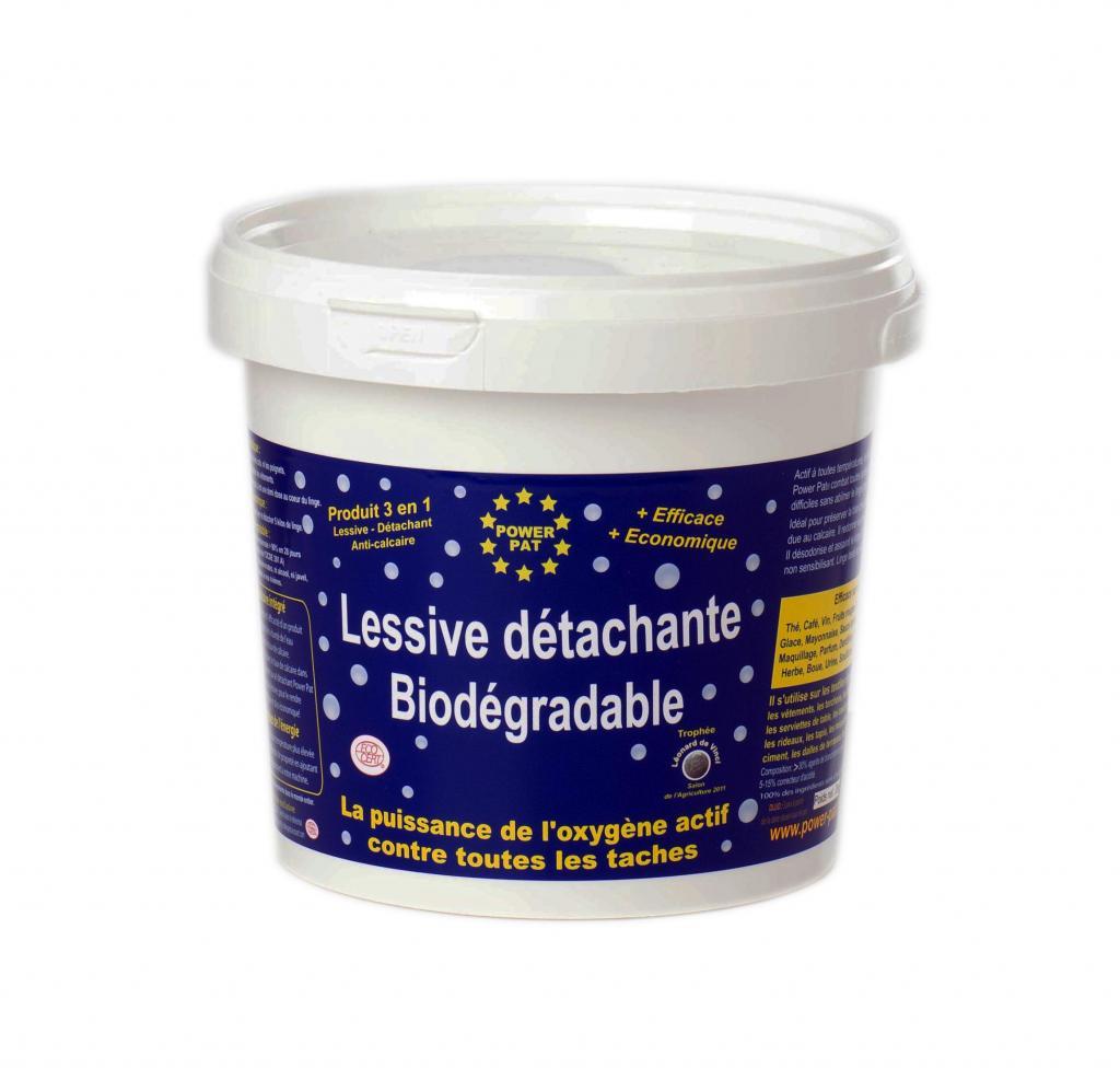 Lessive détachante biodégradable POWERPAT 2 kg