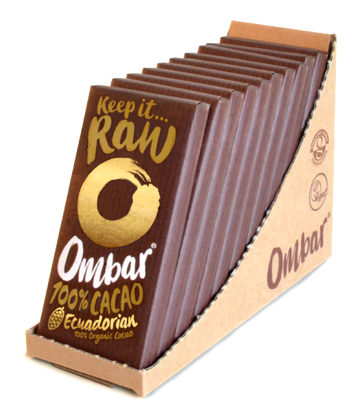 Lot de 9+1 Chocolats Crus 100% Cacao 35g Bio - Ombar