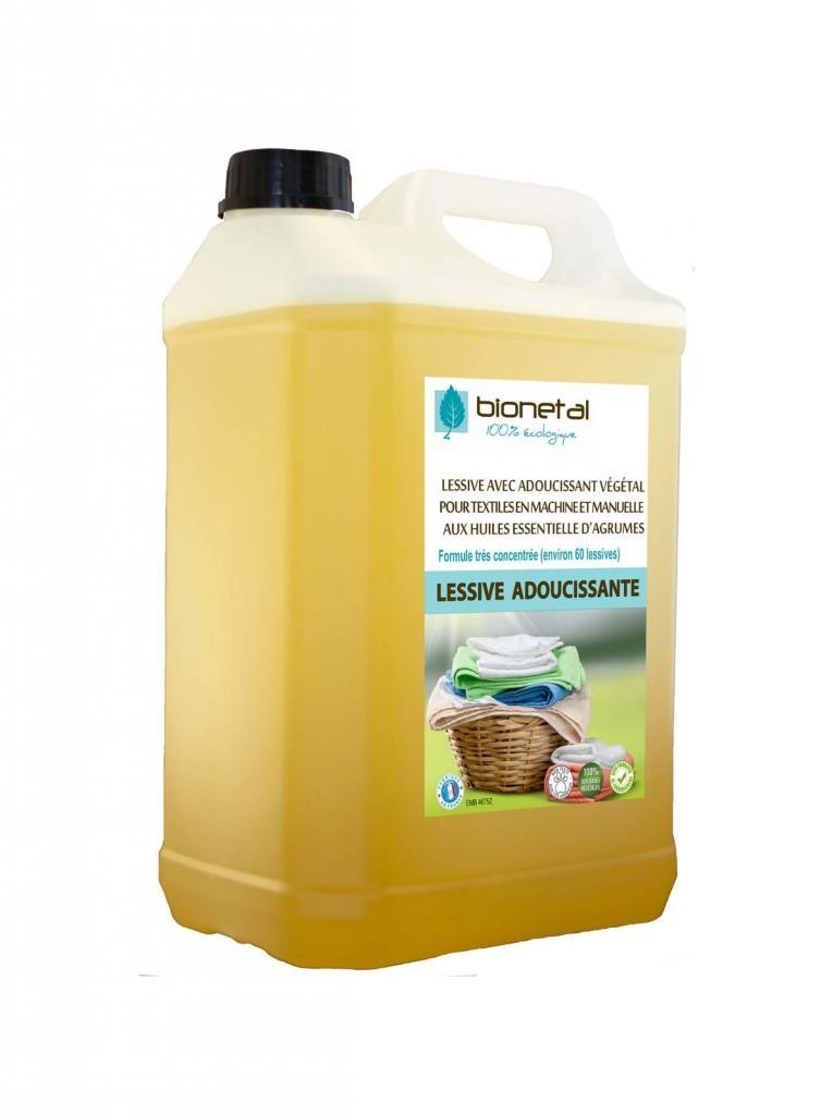 Lessive végétale avec adoucissant et anticalcaire - 5L