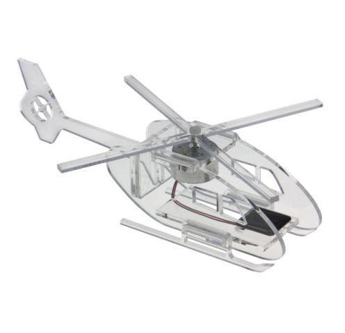 Hélicoptère solaire en plexiglas (livré monté)