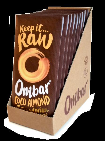 Lot 9+1 Chocolats Crus Coco - Eclats d'Amandes 70g Bio - Ombar