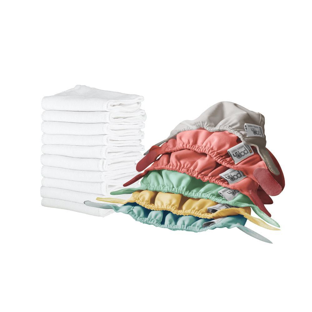 Box de 10 couches lavables Pop'in uni naissance