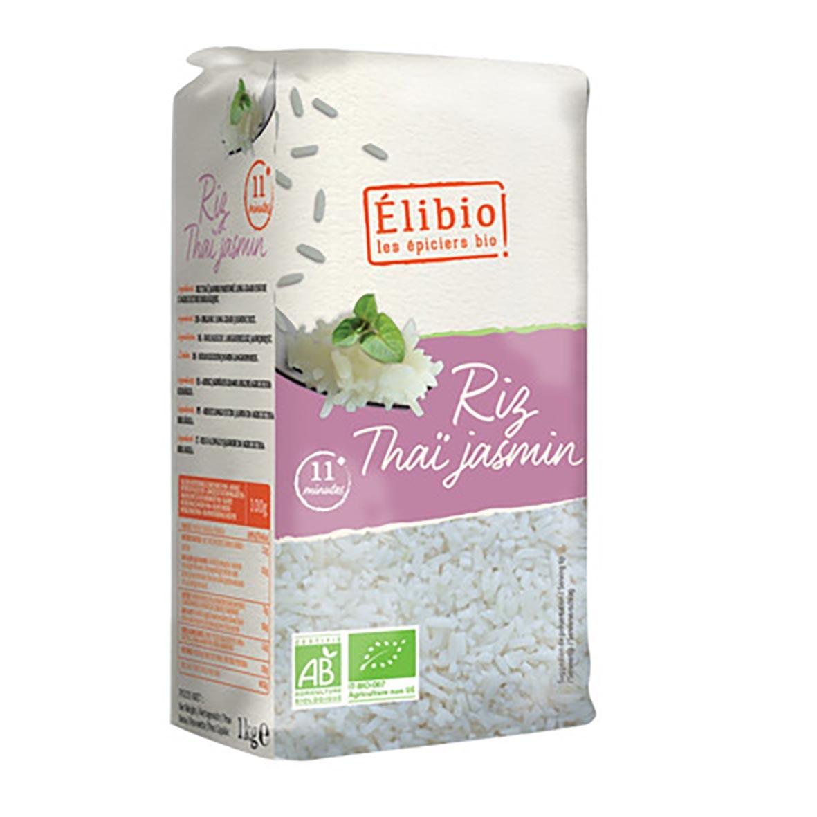 Riz thaï jasmin blanc 1kg bio - Elibio