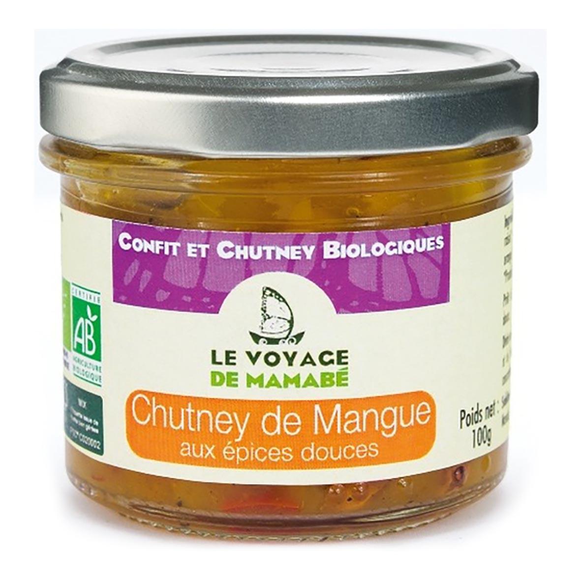 Chutney de mangue aux épices douces 100g bio - Voyage de Mamabe