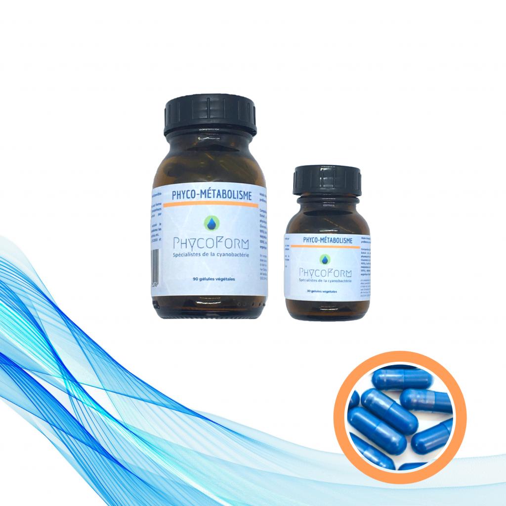 PHYCO MÉTABOLISME: Phycocyanine + Oligo-éléments - 90 gélules végétales