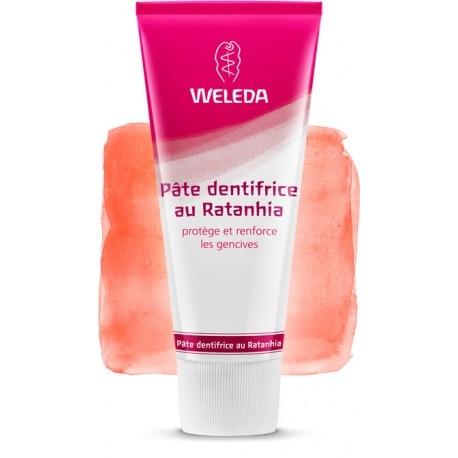 Pâte dentifrice au Ratanhia 75ml-Weleda