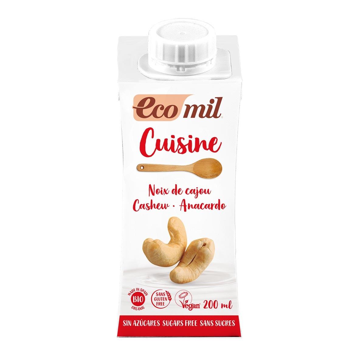 Crème Cuisine Noix de Cajou Nature 200ml Bio - Ecomil