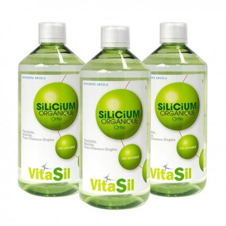 Silicium Organique Bio Activé - Pack de 3 x 500ml - Vitasil