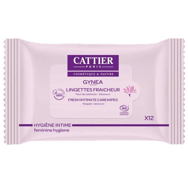 CATTIER - Gynéa Lingettes intimes fraîcheur bio - 12 lingettes