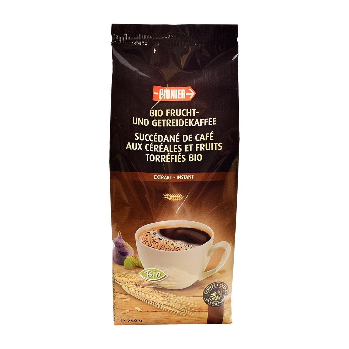 Recharge Succédané de café soluble  (aux céréales, fruits et chicorée ) 250g Bio - Pionier