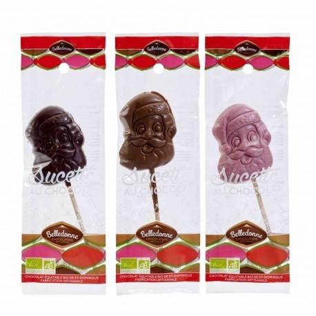 Sucette Père Noel - Chocolat au Lait - 25g - Belledonne