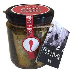 Sardines à l'huile d'olives, piment, olives et tomates séchées 220g - FISH4EVER