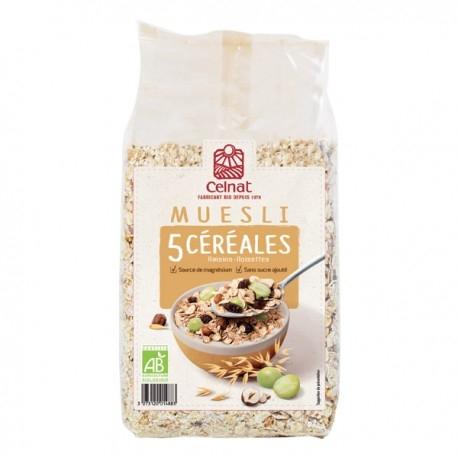 Muesli 5 Céréales Bio - 500gr - Celnat