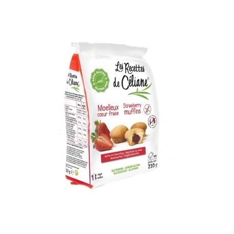 Muffins Coeur Fraise Sans Gluten 210g-Les Recettes de Céliane