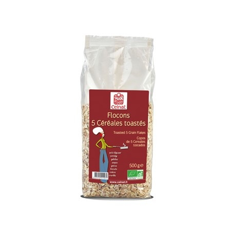 Flocons 5 Céréales toastés, Celnat, 500g
