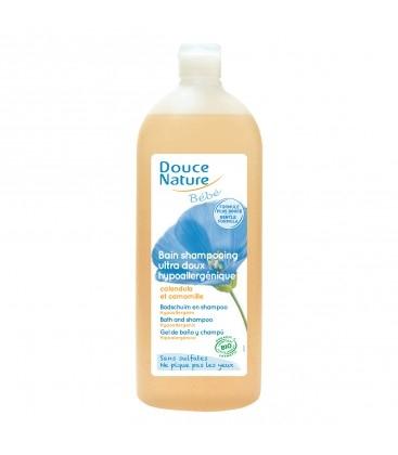 DOUCE NATURE - Bain shampooing ultra doux sans sulfates, hypoallergénique