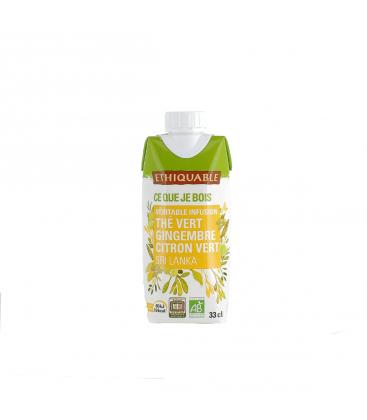 ETHIQUABLE Infusion glacée thé vert gingembre citron vert bio & équitable