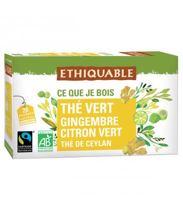 Thé vert gingembre citron vert bio & équitable