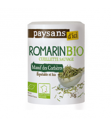 PAYSANS D'ICI Romarin du Massif des Corbières bio & équitable