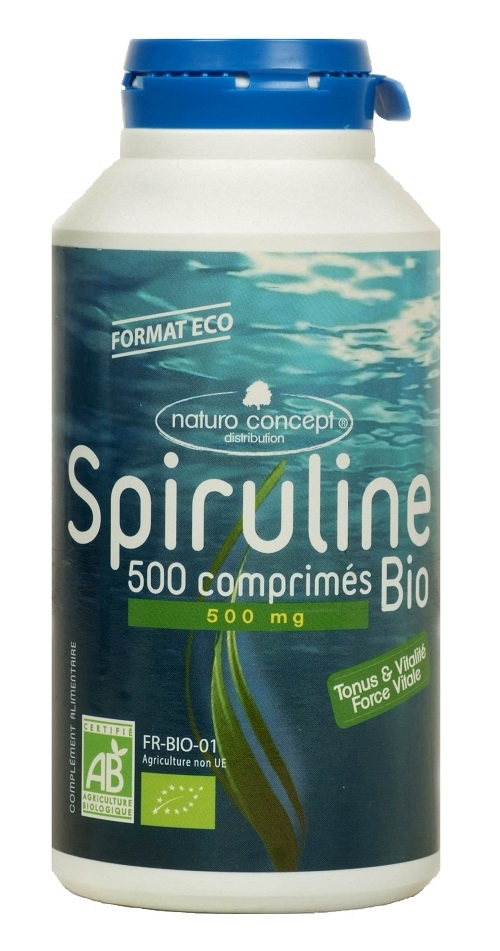 Spiruline bio - 500 comprimés