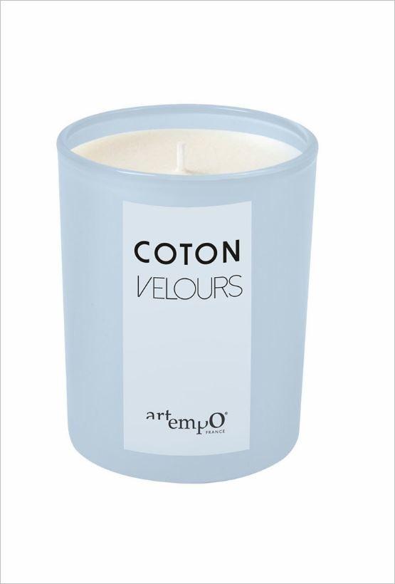 Bougie parfumée Frida - Coton velours - 225 gr - Artempo