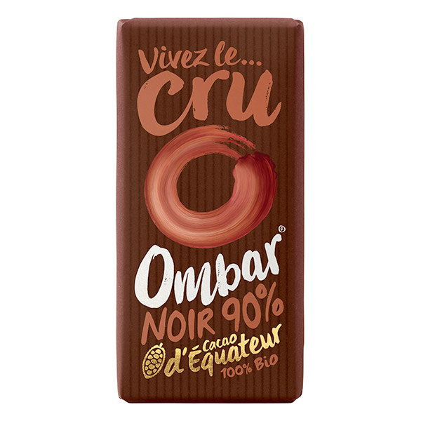 Chocolat Cru 90% Cacao 35g Bio - Ombar