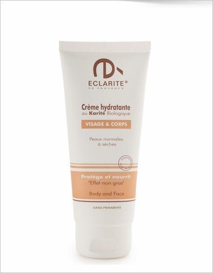 Crème hydratante au Karité biologique - 100 ml - Eclarité