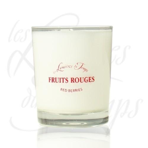 Bougie Végétale parfumée Fruits rouges - 180 g - Les Lumières du Temps