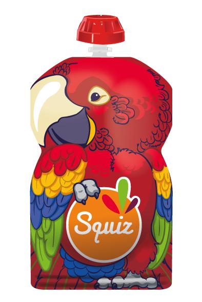 1 gourde réutilisable 130ml - collection amazonie - perroquet
