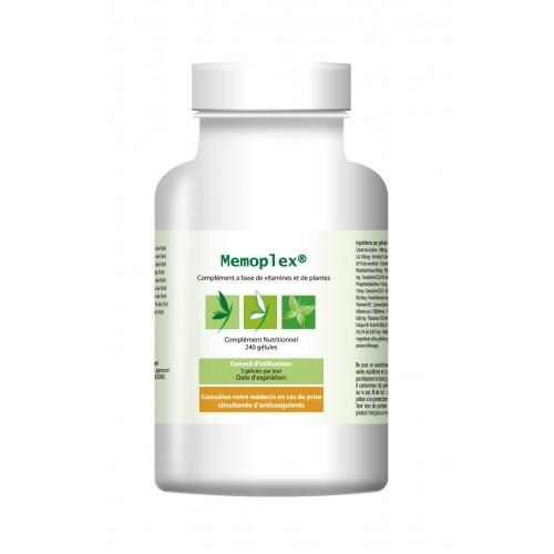 Memoplex (3 x 120 gélules) - Pour les troubles de la mémoire - 120 gélules
