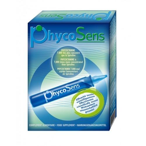 PhycoSens / Spiruline - Puissant antioxydant - Boîte de 10 flacons unidose de 10 ml