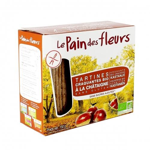 LE PAIN DES FLEURS Tartines craquantes à la châtaigne sans gluten bio 300 g